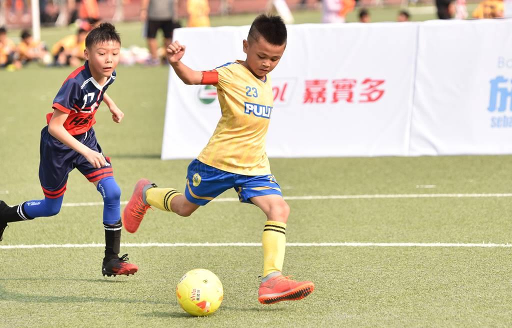 PULI FC埔里山城足球俱樂部首次北上參與萬歲堅果盃比賽,余恩睿個人獨進4球。(圖/牛爸攝)